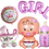 Thumbnail: Ballon aluminium boy girl baby shower naissance