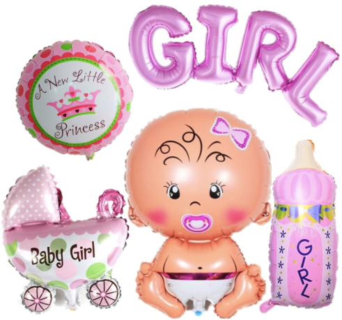 Ballon aluminium boy girl baby shower naissance