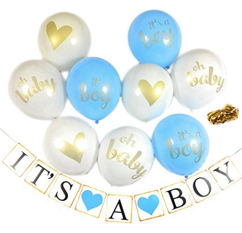 set de ballons + banderole baby shower brit mila