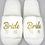 Thumbnail: Peignoir et chaussons en satin Bride to be