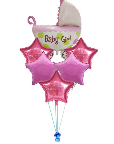 Lot de 6 ballons baby shower brit garçon fille