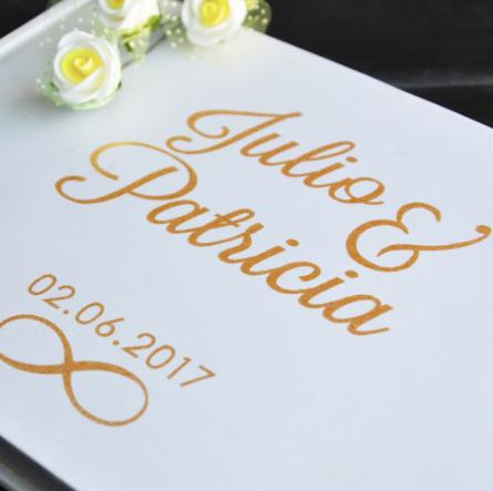 Livre d'or personnalisé mariage