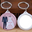Thumbnail: Lot de 50 porte-clef personnalisés miroir - cadeaux mariage