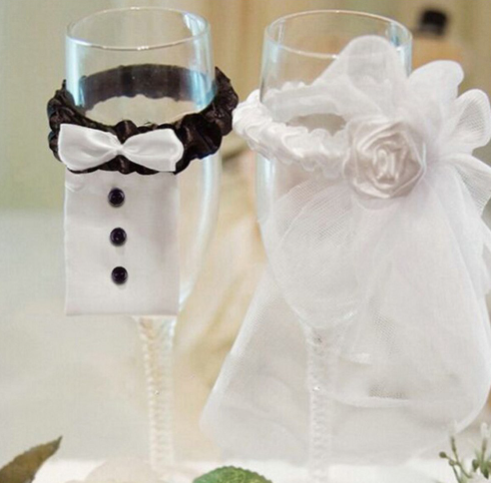 Decoration mariage verres a champagne