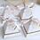 Thumbnail: Lot de 50 boites a dragees pyramide chic - mariage