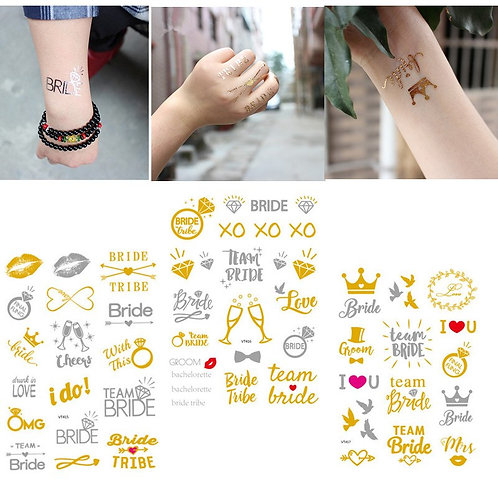 3 pcs autocollants tatouage mariage