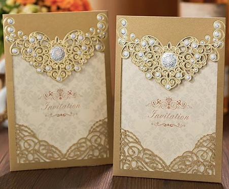 Lot de 50 invitations faire-part mariage