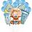 Thumbnail: Lot de 13 ballons baby shower garçon fille
