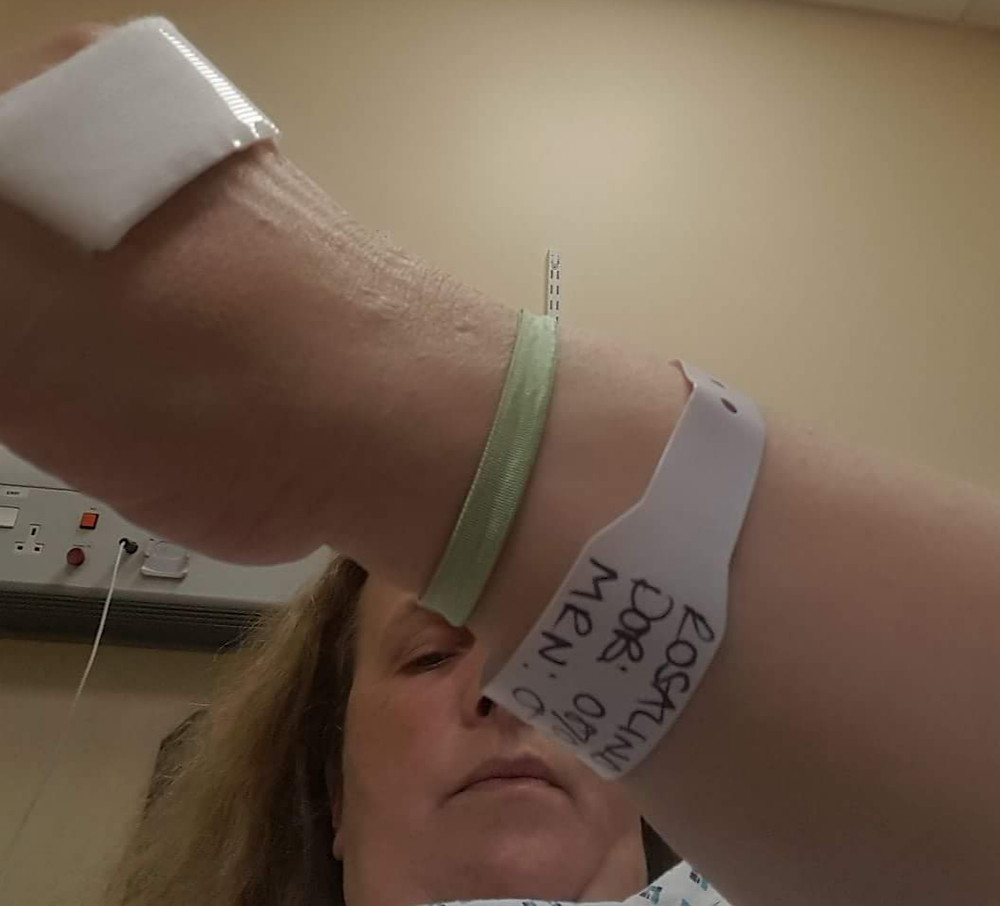hospital patient wristband