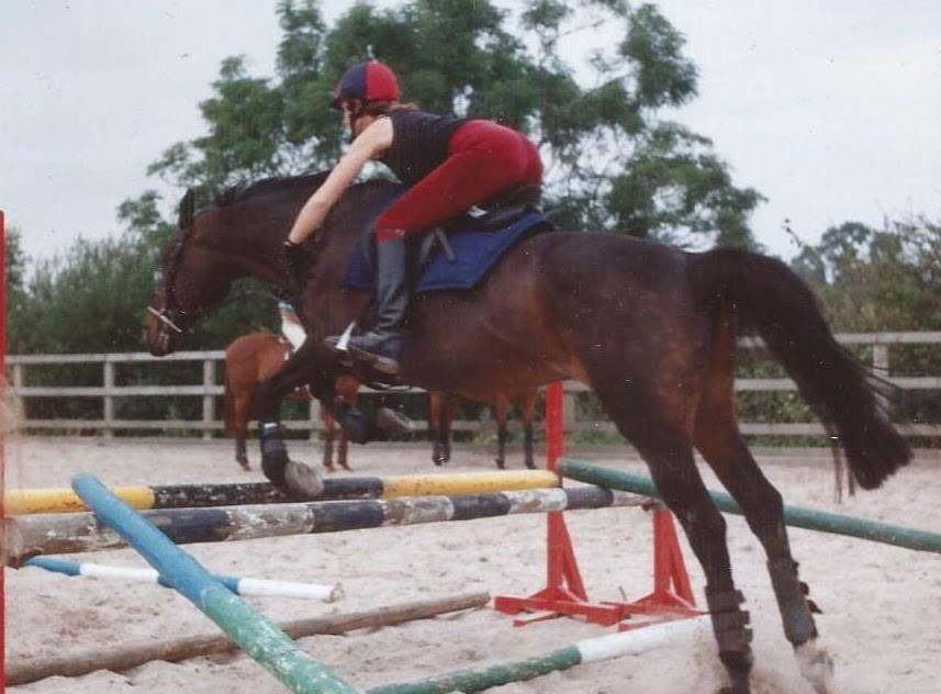 Jumping my bay thoroughbred mare nearly 30 years ago