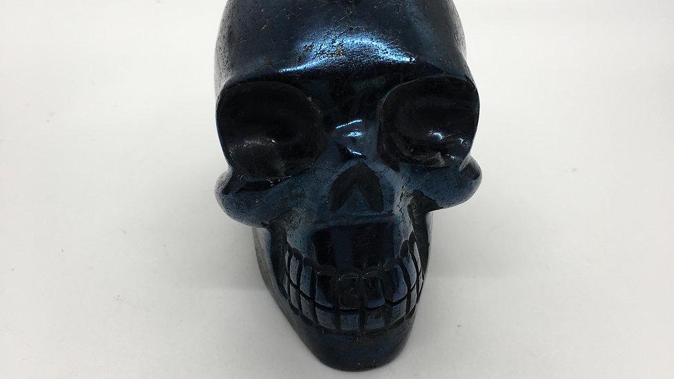 """Covellite 3 1/2"""" Skull"""