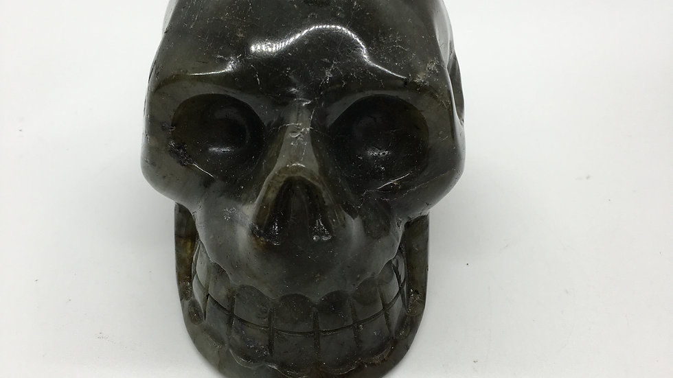 """Labradorite 4"""" Skull"""