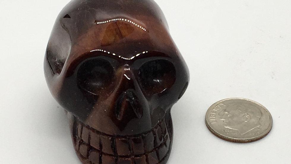 "Red Tiger Eye 2"" Skull"