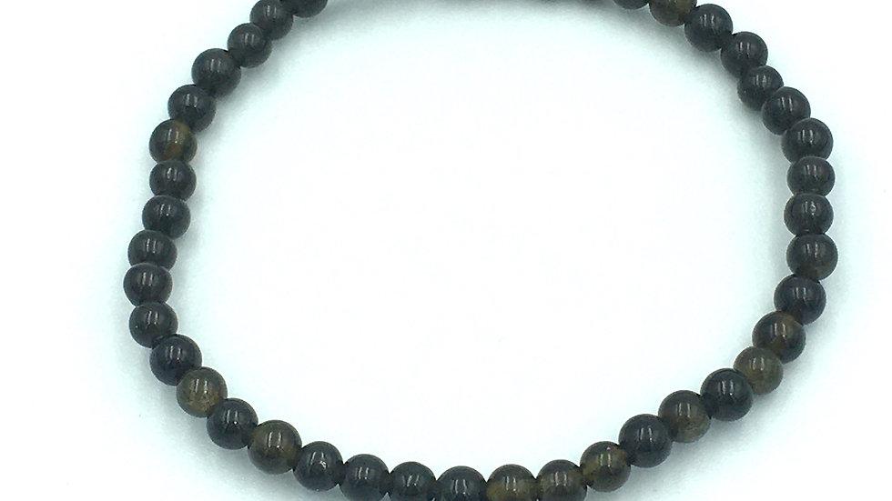 Golden Sheen Obsidian 4 mm Bead Bracelet