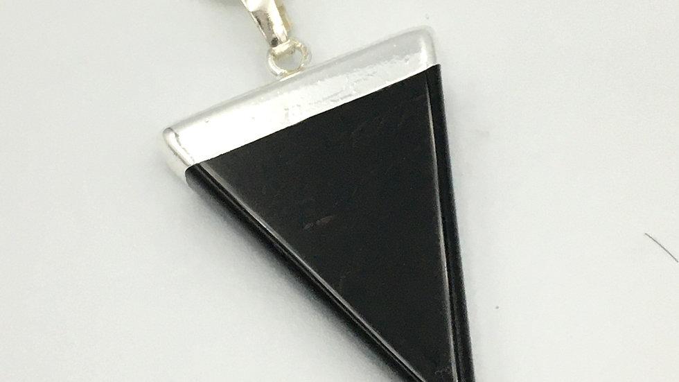 Black Onyx Triangle Shaped Necklace