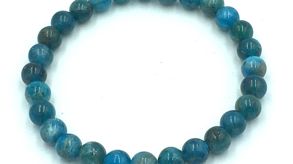 Blue Apatite Bracelet with 6 mm Beads
