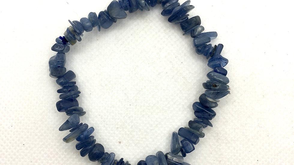 Blue Kyanite Chip Bracelet
