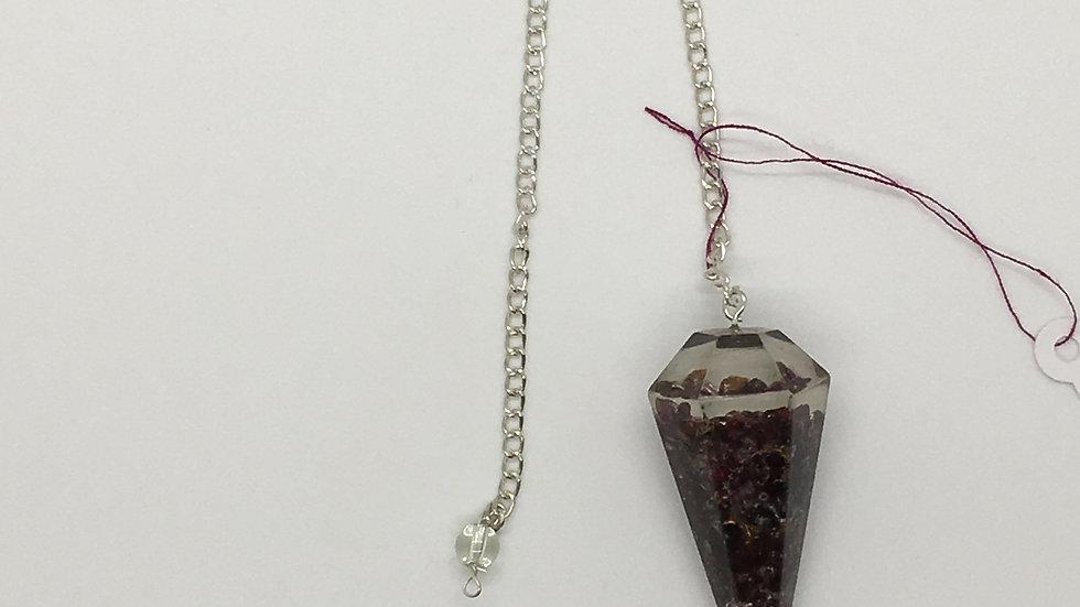 Garnet Orgonite Pendulum