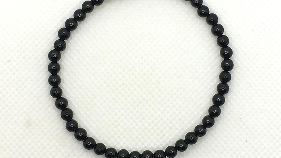 Black Tourmaline 4 mm bead Bracelet
