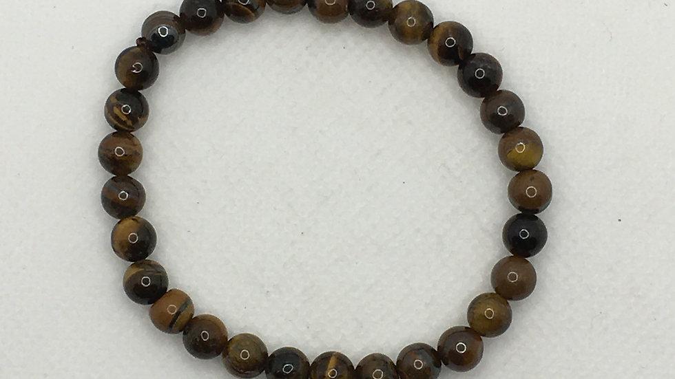 Golden Tiger Eye Bracelet with 6 mm Beads