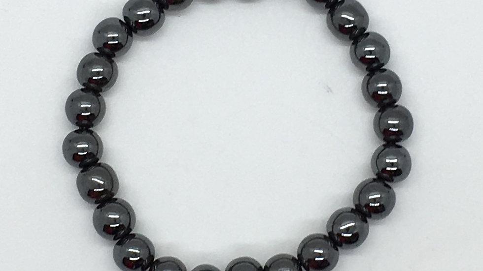 Hematite Bracelet with 8 mm beads