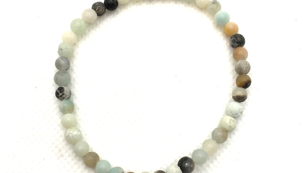Amazonite Bead Bracelet with 4 mm Beads