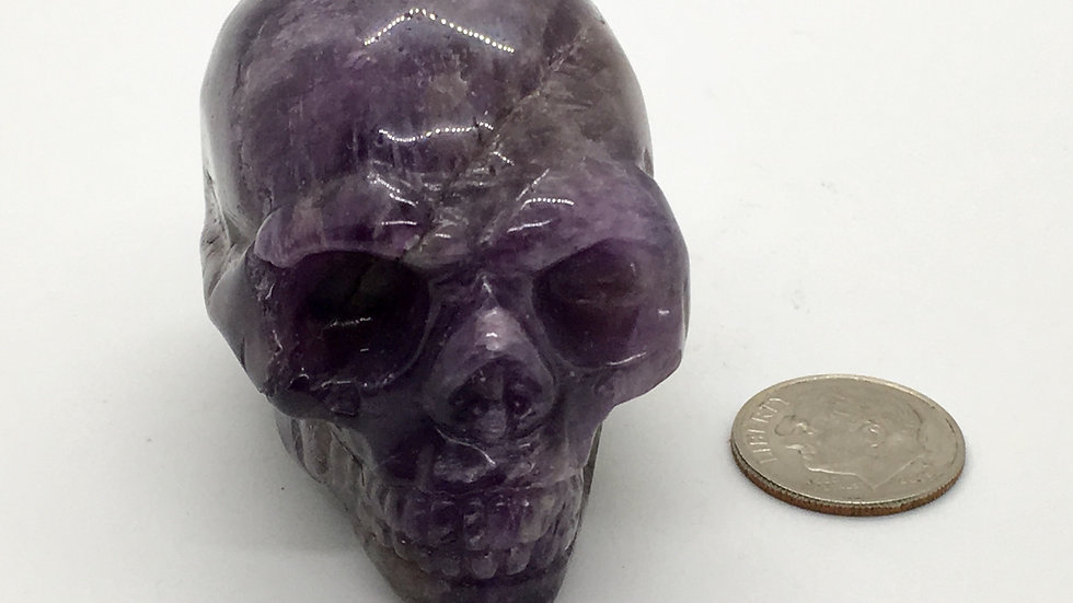 """Amethyst 2"""" Skull"""