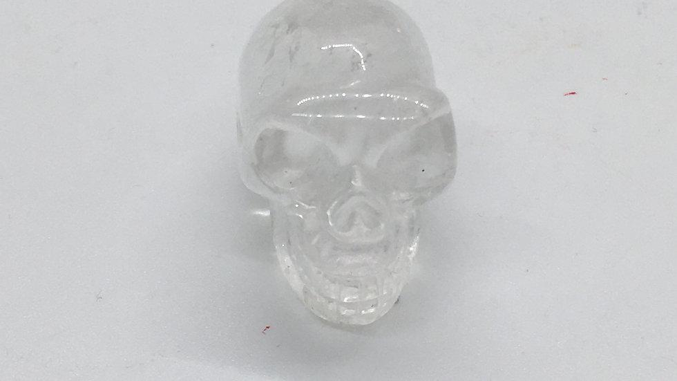"""Clear Quartz  1 1/2"""" Skull"""