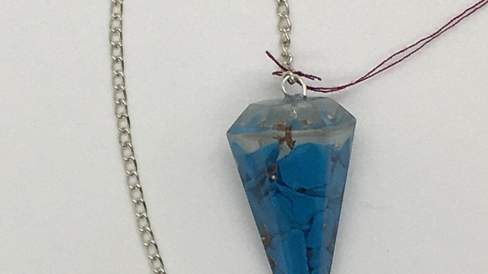 Blue Howlite Orgonite Pendulum