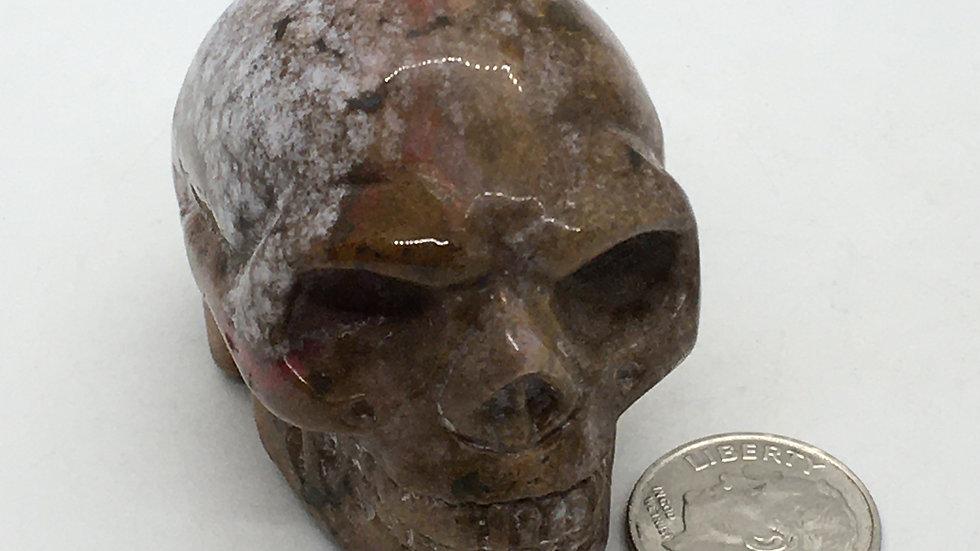"""Ocean Jasper 2"""" Skull"""