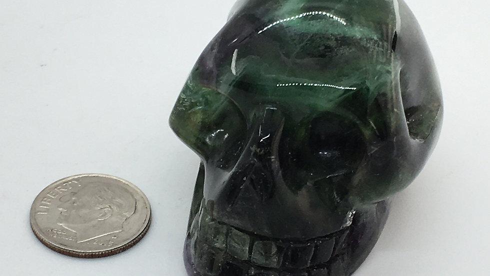 "Fluorite 2"" Skull"