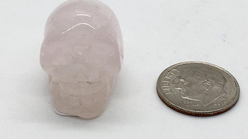 Rose Quartz Baby Skull