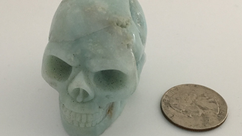 "Amazonite 2"" Skull"