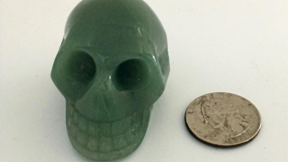 "Green Aventurine 2"" Skull"