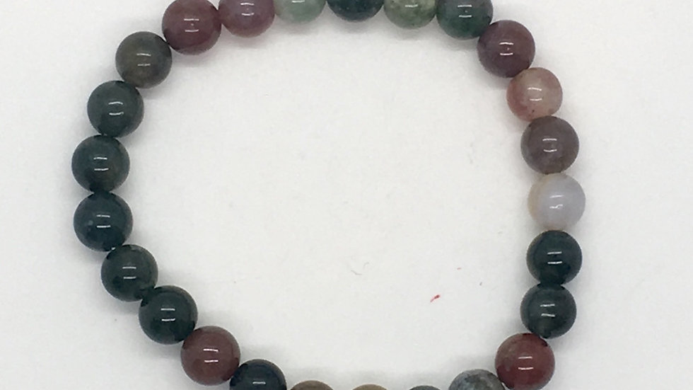 Indian Agate Bracelet with 8 mm beads