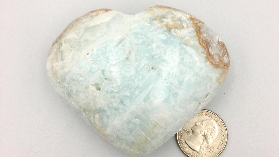 Caribbean Calcite Heart