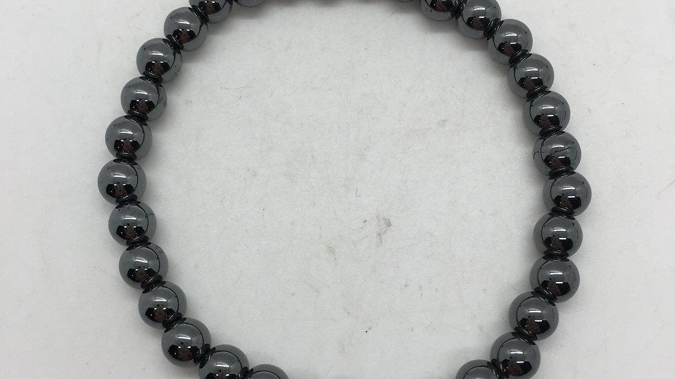 Hematite Bracelet with 6 mm beads
