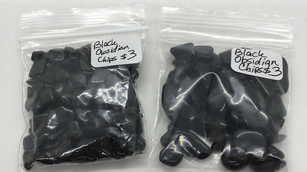 Black Obsidian Chips