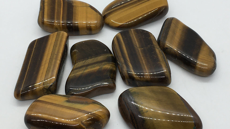 Golden Tiger Eye Flat Smooth Stone