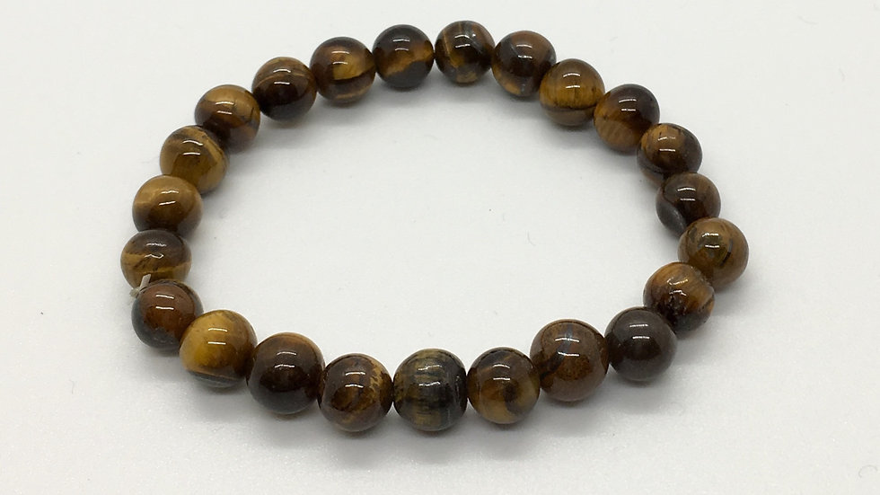 Golden Tiger Eye Bracelet with 8 mm beads