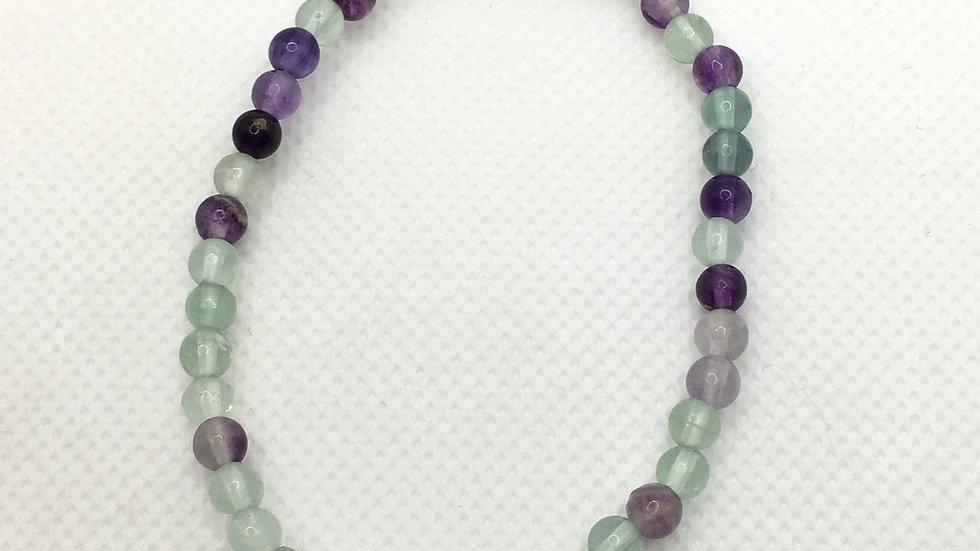 Fluorite Bracelet with 4 mm Beads