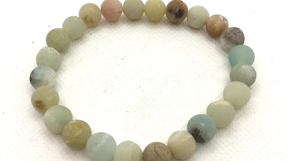 Amazonite Bracelet with 8 mm Beads (Matte Finish)