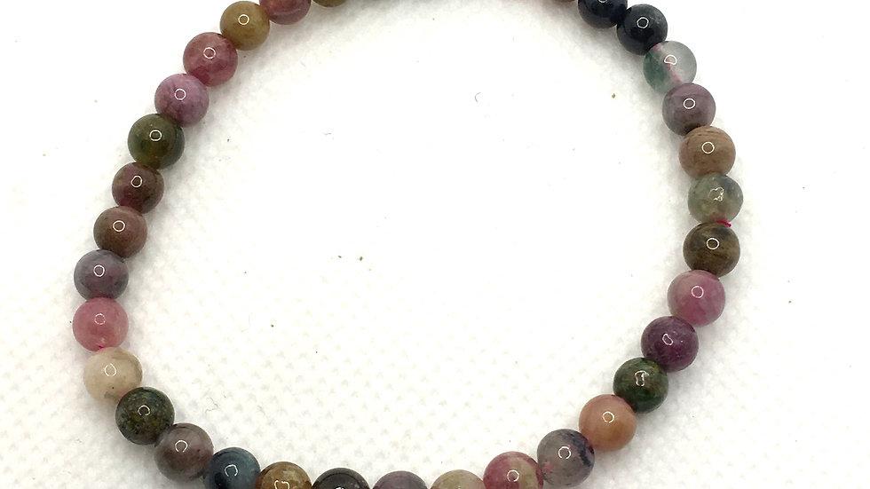 Tourmaline Mix Bracelet with 5 mm Beads