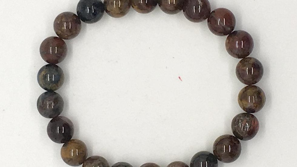 Pietersite Bracelet with 8 mm beads