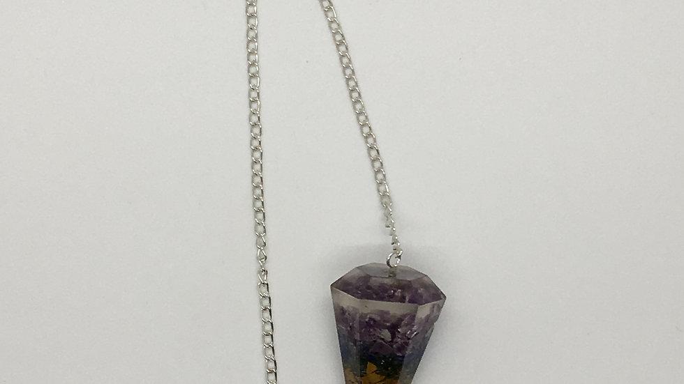 Chakra Orgonite Pendulum