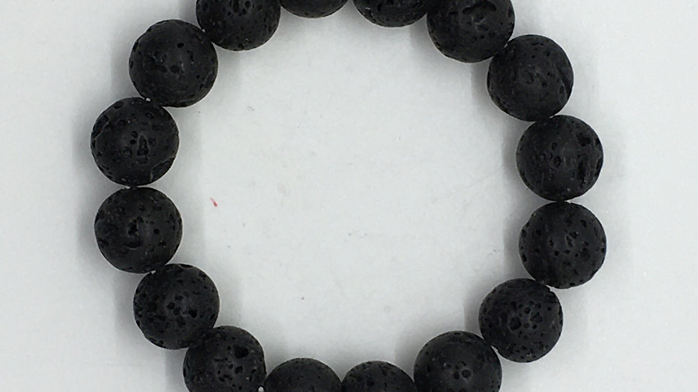 Lava Diffuser Bracelet with 12 mm beads