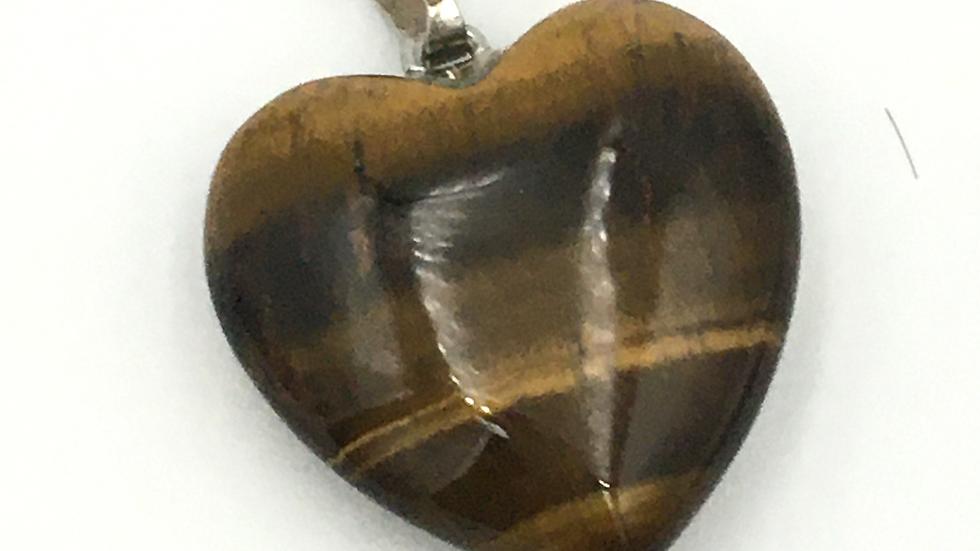 Golden Tiger Heart Shaped Necklace
