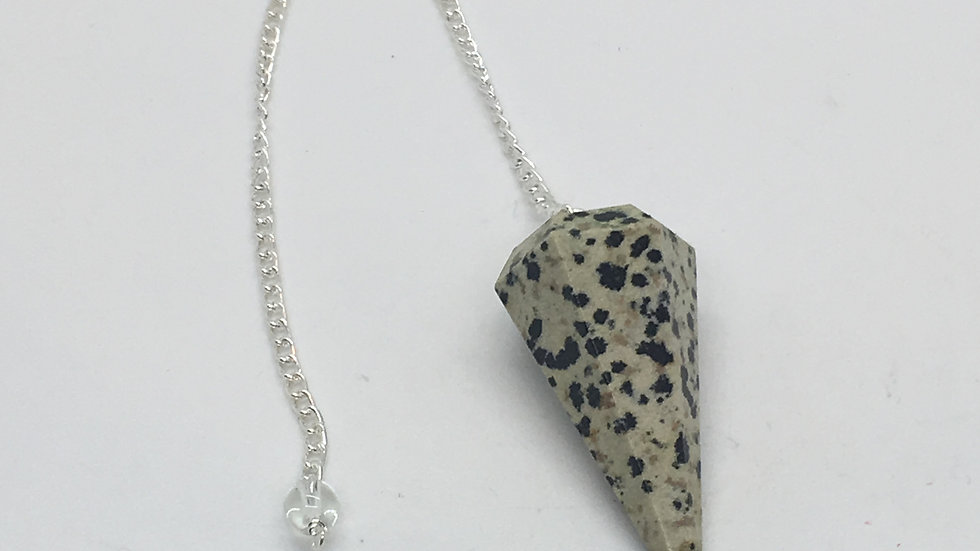 Dalmatian Jasper Pendulum