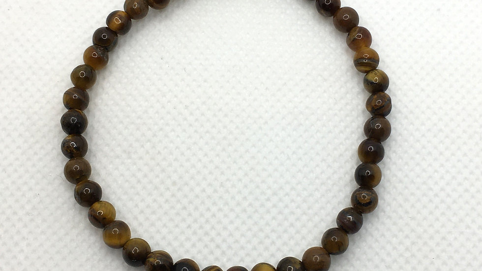 Golden Tiger Eye Bracelet with 4 mm Beads