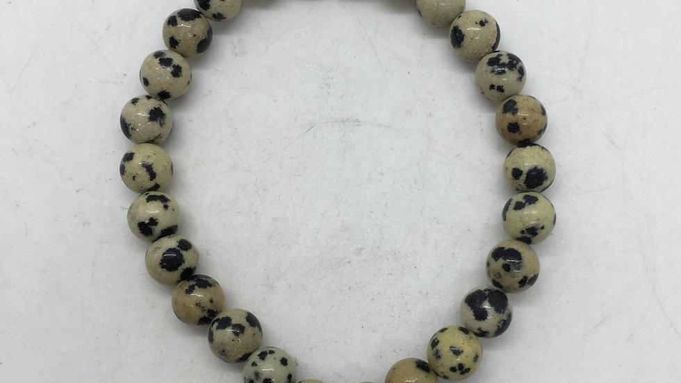 Dalmatian Jasper with 6 mm beads